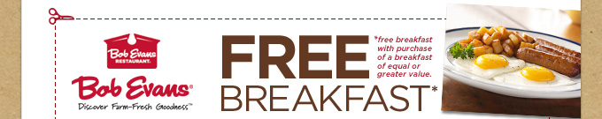 FREE Breakfast Coupon