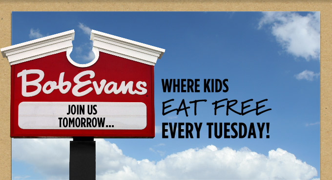 Join Us Tuesdays, Where Kids Eat Free*