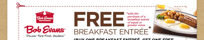 Free Breakfast Entree Coupon